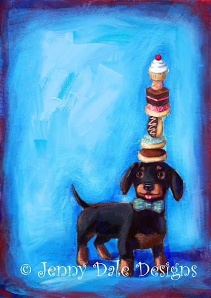Harlso The Dachshund Art | Jenny Dale Designs