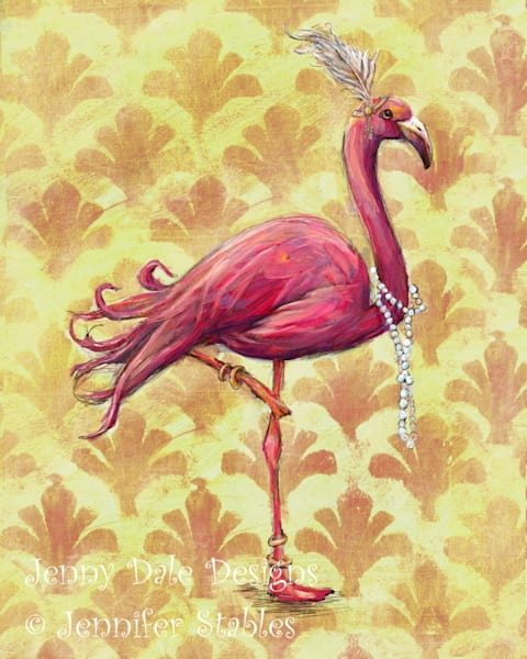 Pink Flamingo Flapper | Jenny Dale Designs