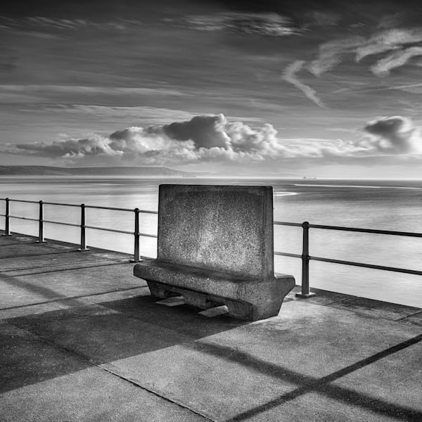 B12 Weymouth Stone Pier Seat Photography Art | Roy Fraser Photographer