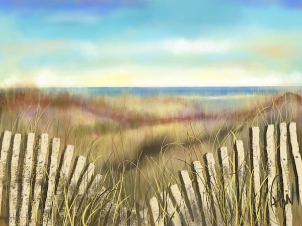 Beach Dreaming digital painting