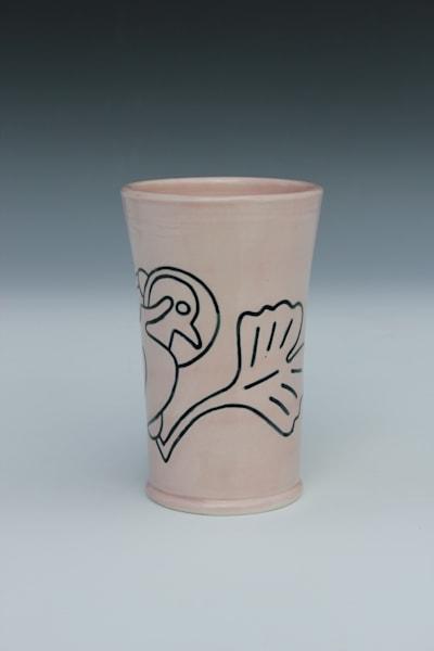 Galactic Gingko Gull, Pleasant Pink Tumbler