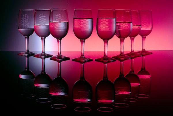 A Fine Art Photograph of Colors on Black Plexiglass Reflections by Michael Pucciarelli