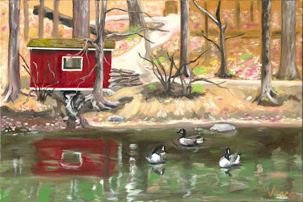Lorimer Park Landscape    Original Painting Art   OPV Art, LLC