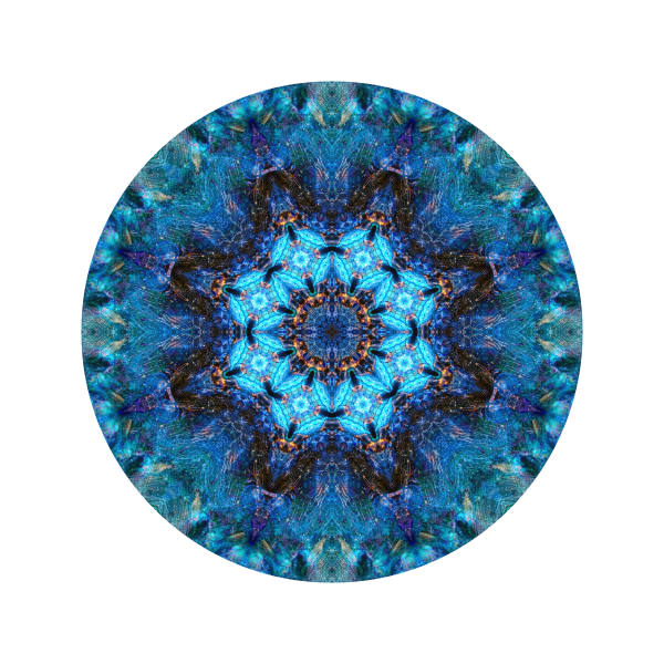 Blue Neutron Cube M2 - Modern Mandala | A Psychedelic Art Project by Cameron Emmanuel