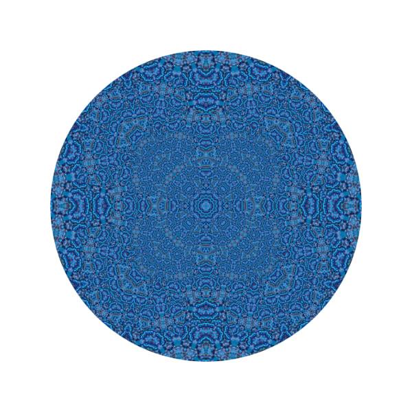 Blue Light Elegance Glitter M1 - Modern Mandala | A Psychedelic Art Project by Cameron Emmanuel