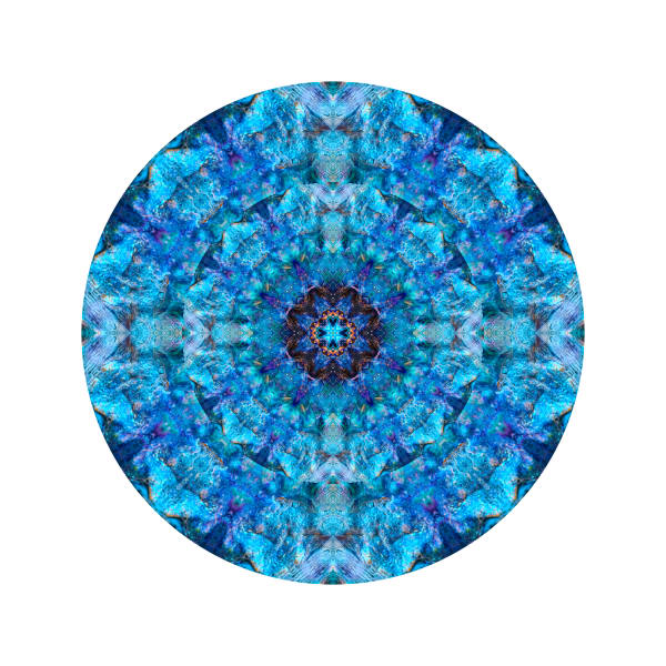 Blue Squidmouth M1 - Modern Mandala | A Psychedelic Art Project by Cameron Emmanuel