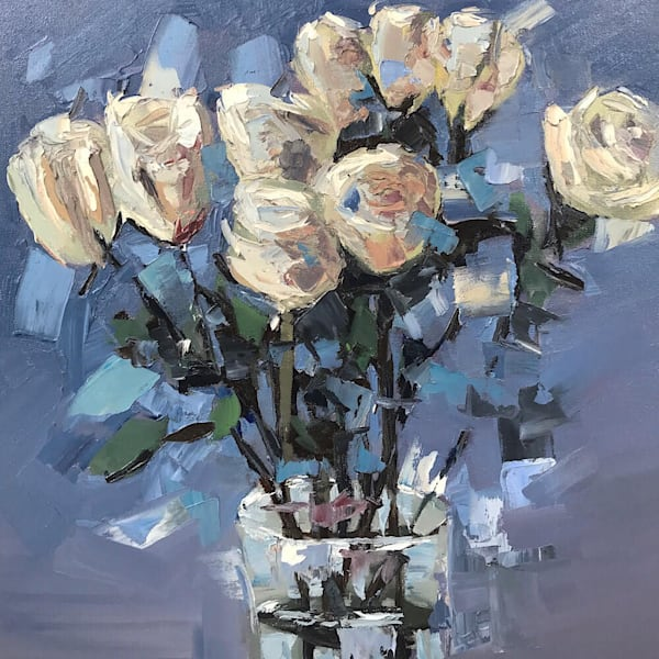 White Roses Painting