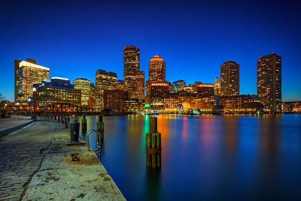 Boston Twilight at Fan Pier   Shop Photography by Rick Berk