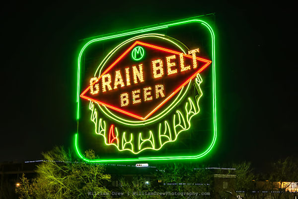 Grain Belt Sign - Minneapolis Wall Murals | William Drew Photography.