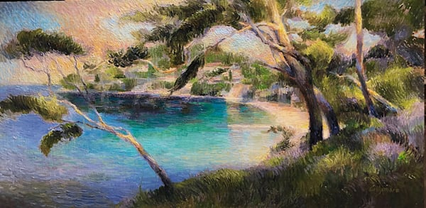 Beach Vista In Cap Ferrat Art | Fountainhead Gallery