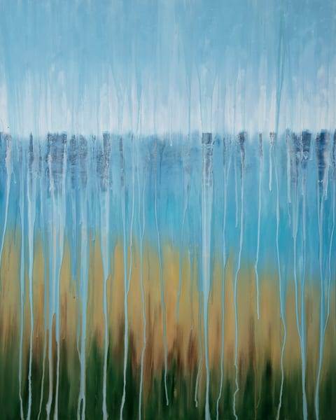 Rainy Moment 07   Beach Dreams By Rachel Brask Art | Rachel Brask Studio, LLC