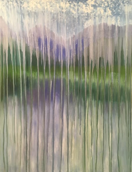 Rainy Moment 15   Lakeside Mountain Rain Art | Rachel Brask Studio, LLC