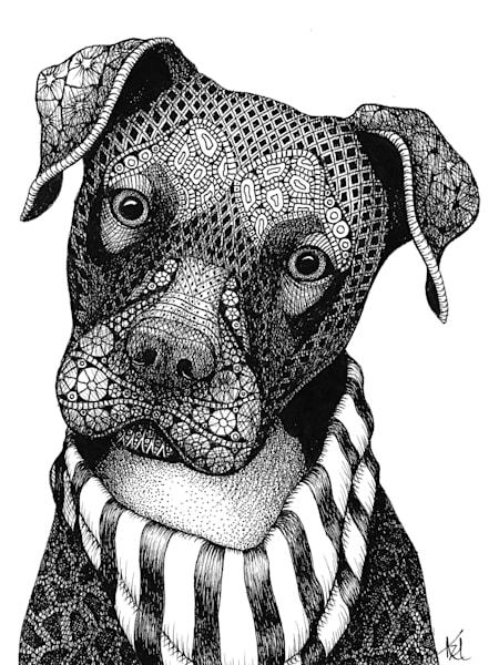 "Pit Bull Pup Art | Kristin Moger ""Seriously Fun Art"""