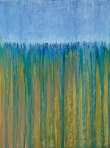 Beach Dunes In Rain By Rachel Brask Art | Rachel Brask Studio, LLC