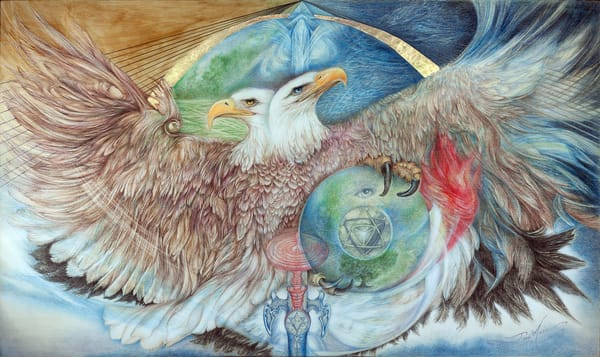 Double Headed  Eagle Art | Joan Marie Art