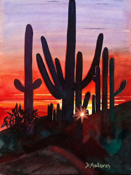 Sunset at Dove Mountain Mini Canvas