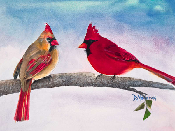 Mr. & Mrs. Cardinal Mini Canvas