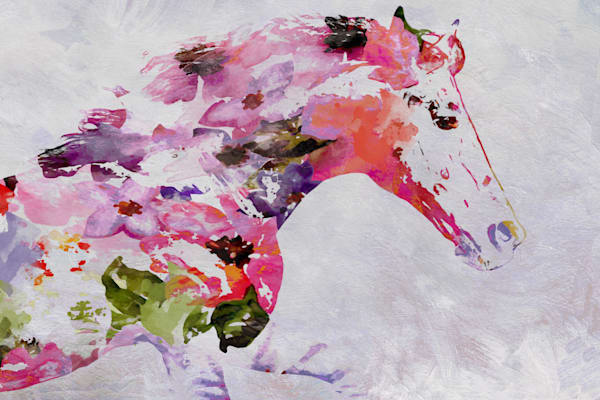 Abstract Pink Horse