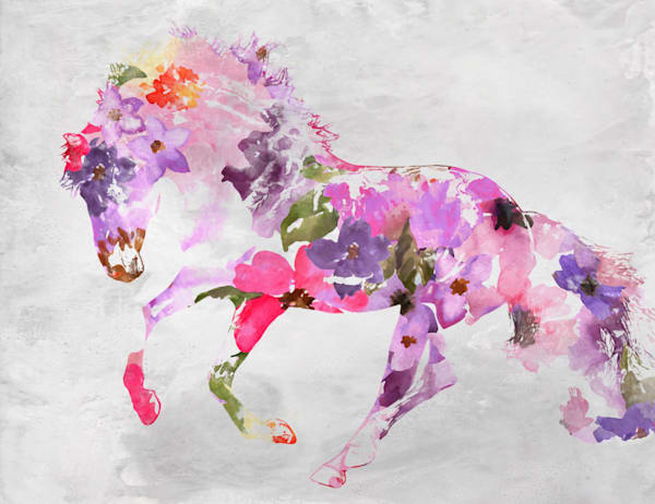 Beautiful Floral Horse 2 Art | Irena Orlov Art