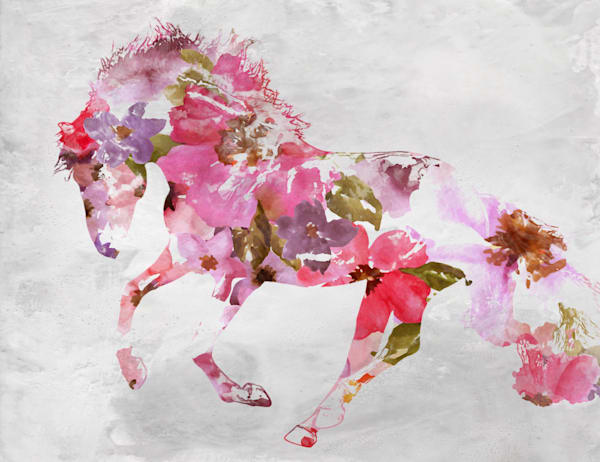 Beautiful Floral Horse 3