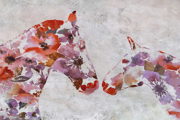 Love Between Horse Couple 2 Art | Irena Orlov Art