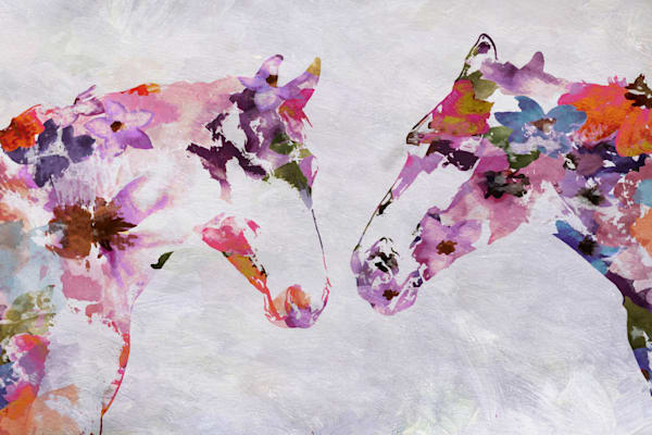 Two Loving Horses Art | Irena Orlov Art