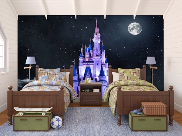 Cinderella White Moon - Disney Princess Castle Giant Wall Mural