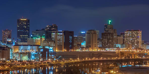 Saint Patricks Day in Saint Paul - St Paul Skyline Art