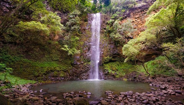Secret Falls, waterfall, Kauai, Hawaii, inspiring images