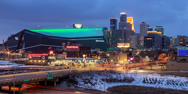 US Bank Stadium Saint Patricks Day - Cityscape Minneapolis