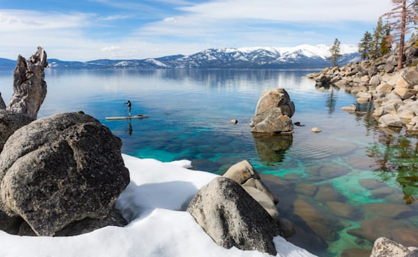 Tranquil March Paddling Along Snowy Shores Photography Art | David N . Braun Photography