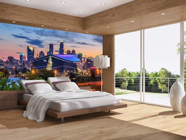 Dusk and the City 2 - Minneapolis Skyline Murals | William Drew