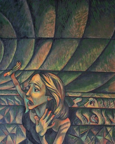 """""""Panic Much"""" - Original art oil painting"""