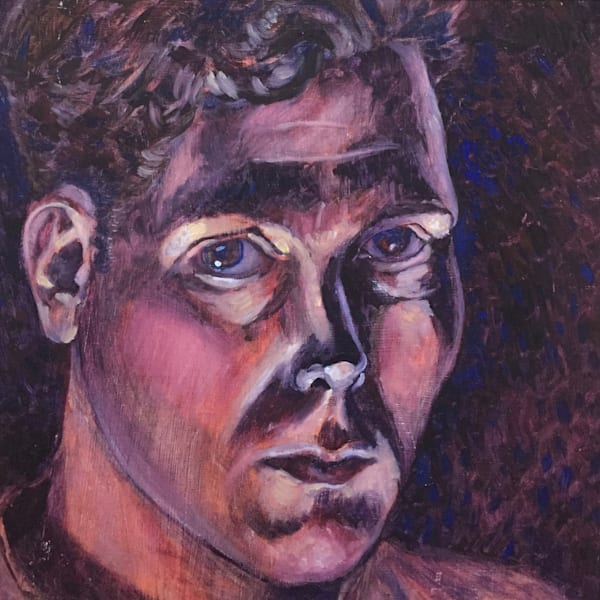 """""""Pensive"""" - Original art oil painting"""