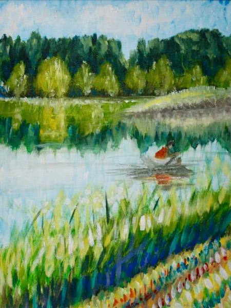 """Reflect""   Original Art Painting Art | J.E. Strohkorb Fine Arts"