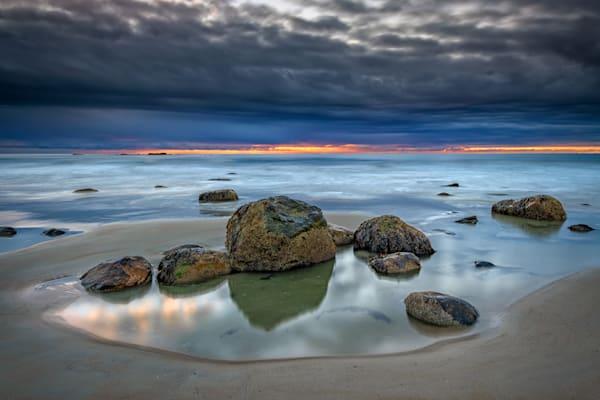 Cloudy Morning on Wells Beach by Rick Berk