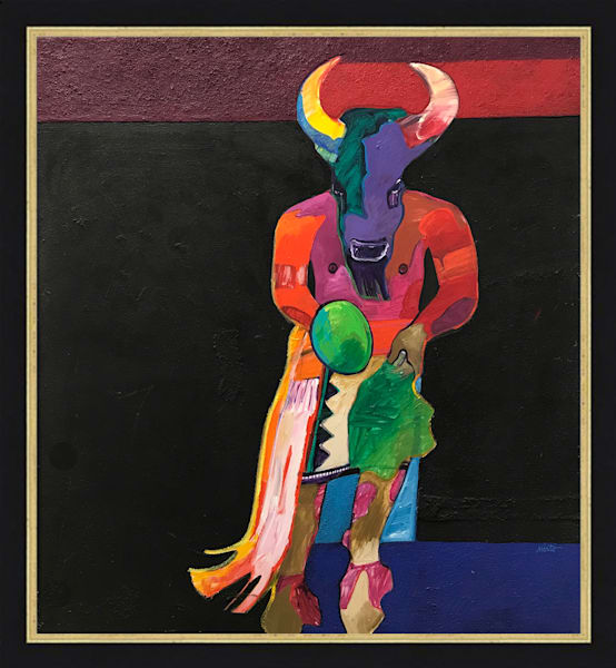 Buffalo Dancer (Sand Painting) | John Nieto Original Painting