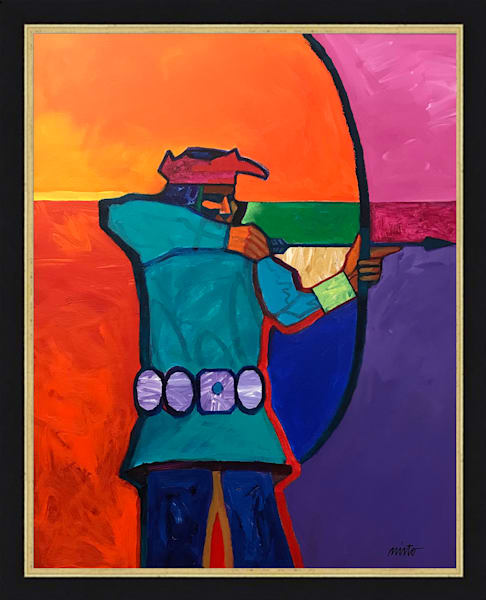 Pueblo Archer | John Nieto Original Painting