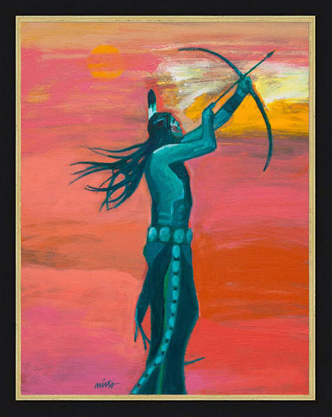 Plains Archer II | John Nieto Original Painting