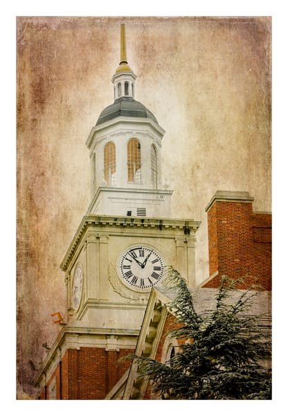 Howard University S Founders Library Clock Tower  Photography Art | Sandy Adams Outdoorvizions Photography