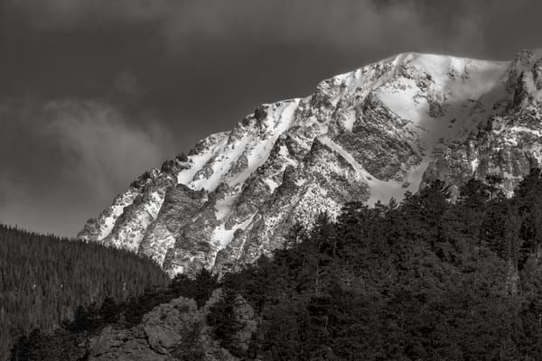 Black and White Art Print of Mount Chapin in RMNP