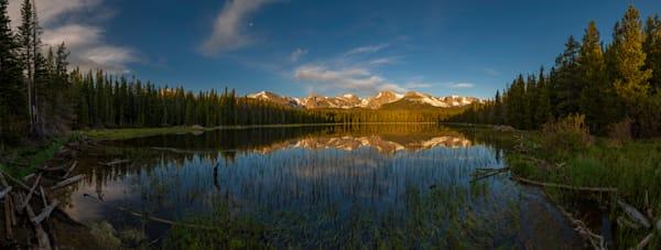 Bierstadt Lake Panoramic Photo  Rocky Mountain National Park Colorado