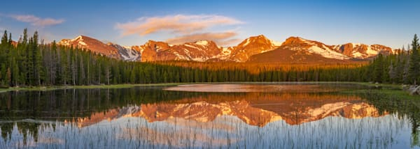 Bierstadt Lake Rocky Mountain National Park Panoramic Photograph