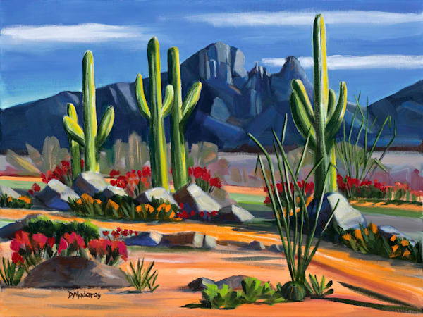 Finger Rock Blues Tucson Painting Diana Madaras
