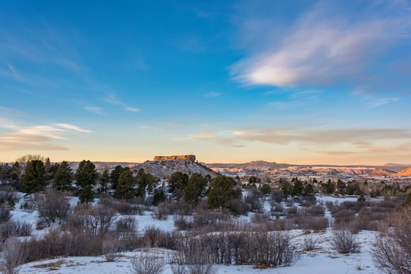 Photo of Castle Rock CO Winter Sunrise Landscape - Wall Prints