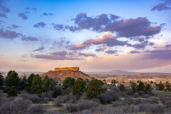 Photo of Castle Rock Colorado Early Spring Morning Sunrise