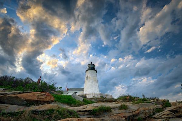 Gathering Clouds at Pemaquid Point by Rick Berk