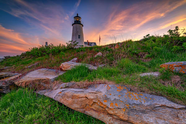 Last Light at Pemaquid Point by Rick Berk