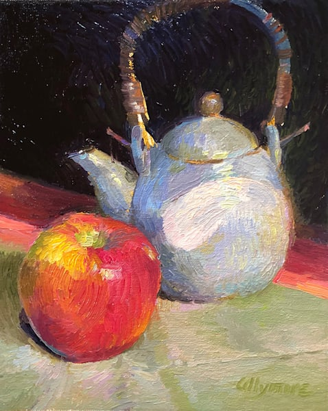 Still Life with Apple and Teapot