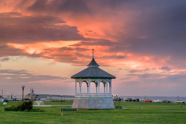 Oak Bluffs Bandstand Thunder Clouds Art | Michael Blanchard Inspirational Photography - Crossroads Gallery